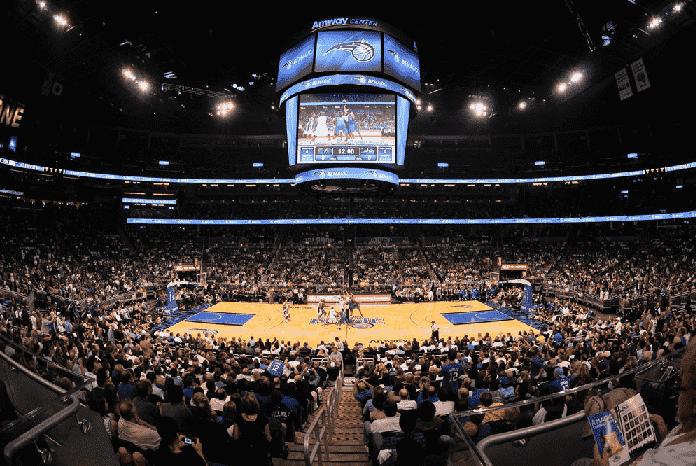 Jogo de basquete do Orlando Magic