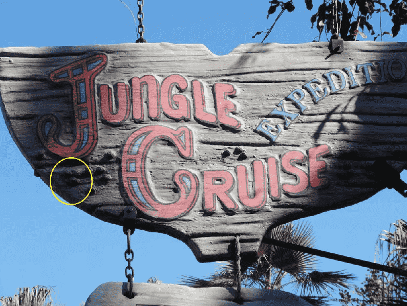 Hidden Mickeys no Jungle Cruise