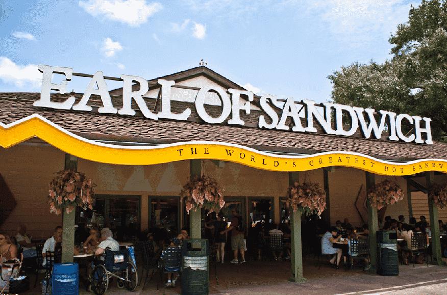 Entrada do Earl of Sandwich no Disney Springs em Orlando