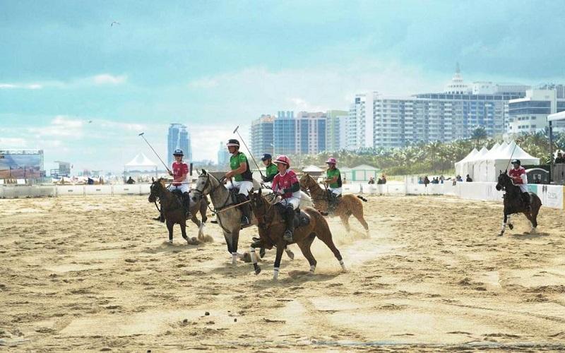 Campeonato Mundial de Polo en la playa de Miami