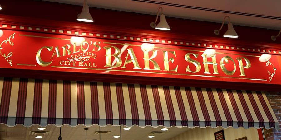 Entrada da confeitaria Carlo's Bakery no Florida Mall