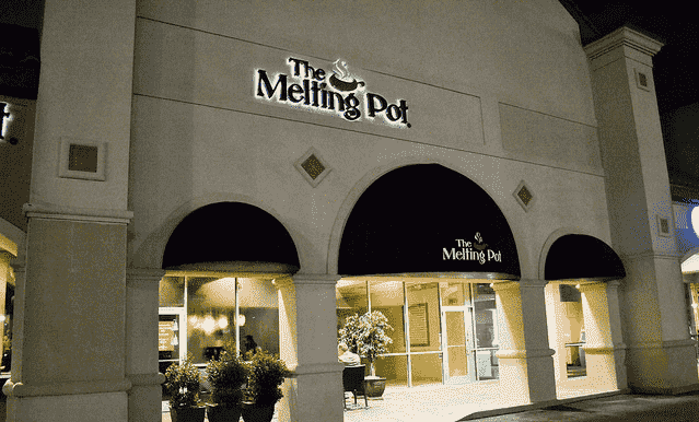 Entrada do Restaurante Melting Pot em Orlando