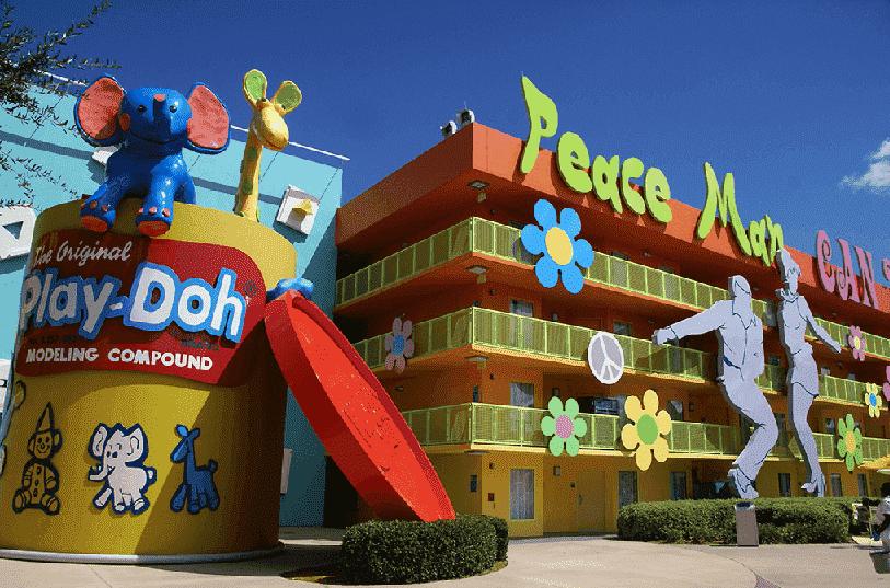 Decoração do Pop Century Disney