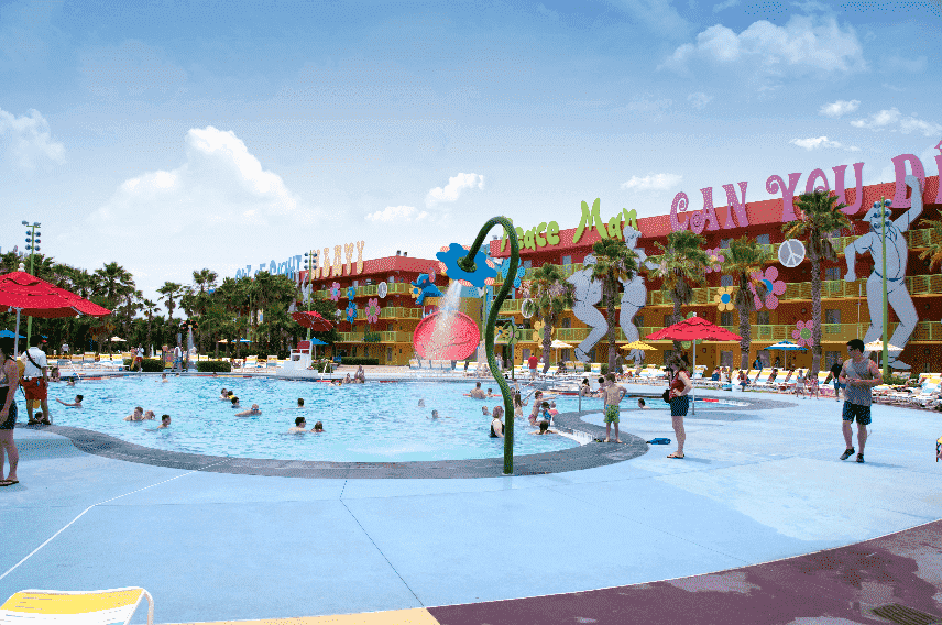 Piscina do Hotel Pop Century na Disney em Orlando