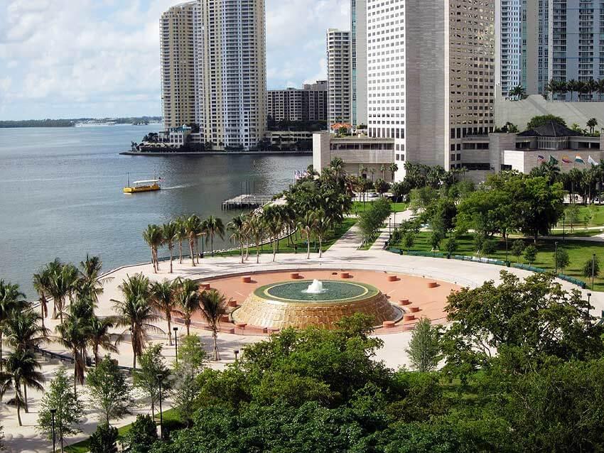 Fonte do Bayfront Park em Miami