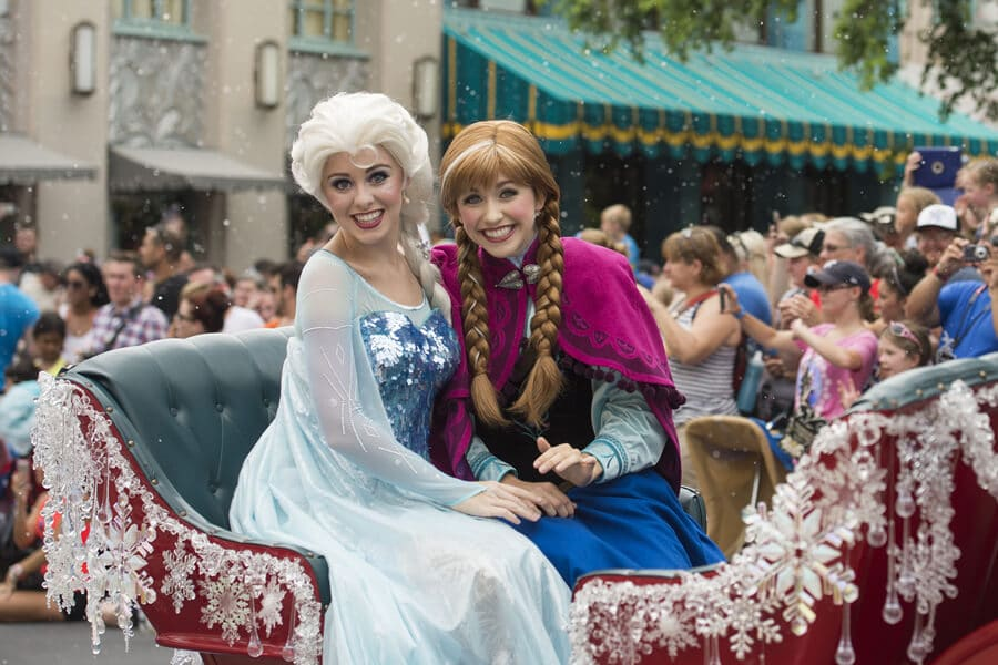 Princesas Anna e Elsa do Frozen na Disney Orlando