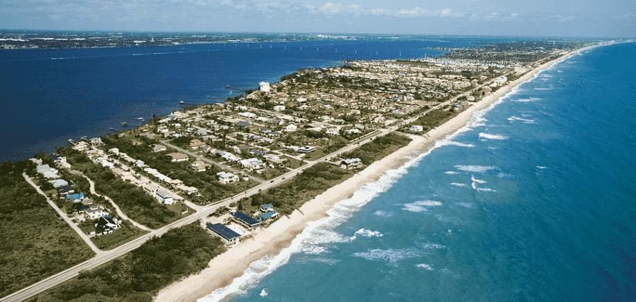 Cidade Palm Beach na Florida
