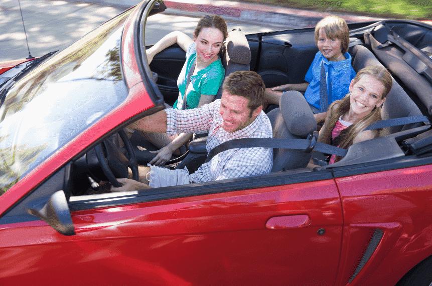 Carro para a família na Flórida