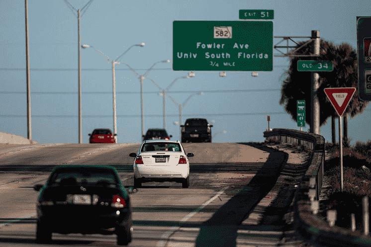 Pista para carros na Flórida