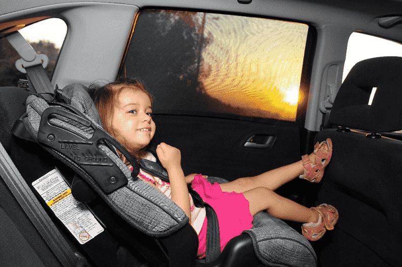 Criança em carro - Fort Lauderdale