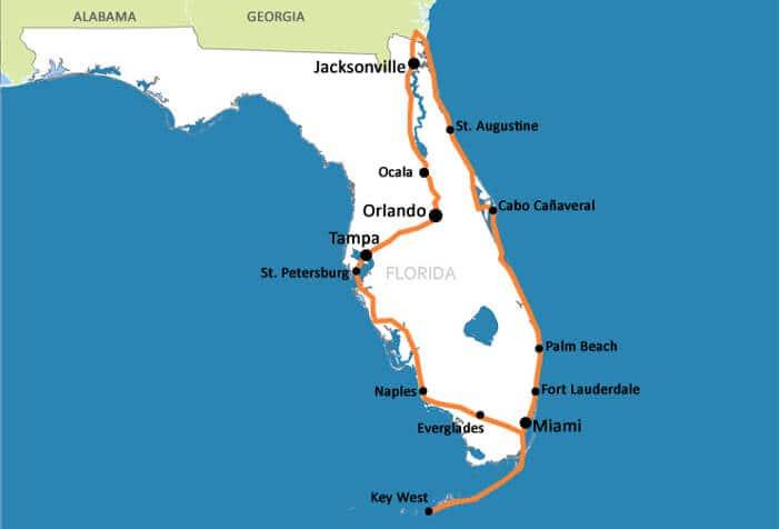 Mapa da Flórida