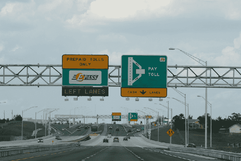 Pedágios com o carro alugado em Tampa