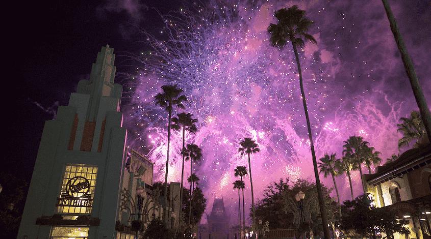 Fogos de artifício Star Wars na Disney em Orlando