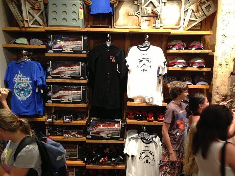 Produtos da Loja Tatooine Traders na Disney em Orlando