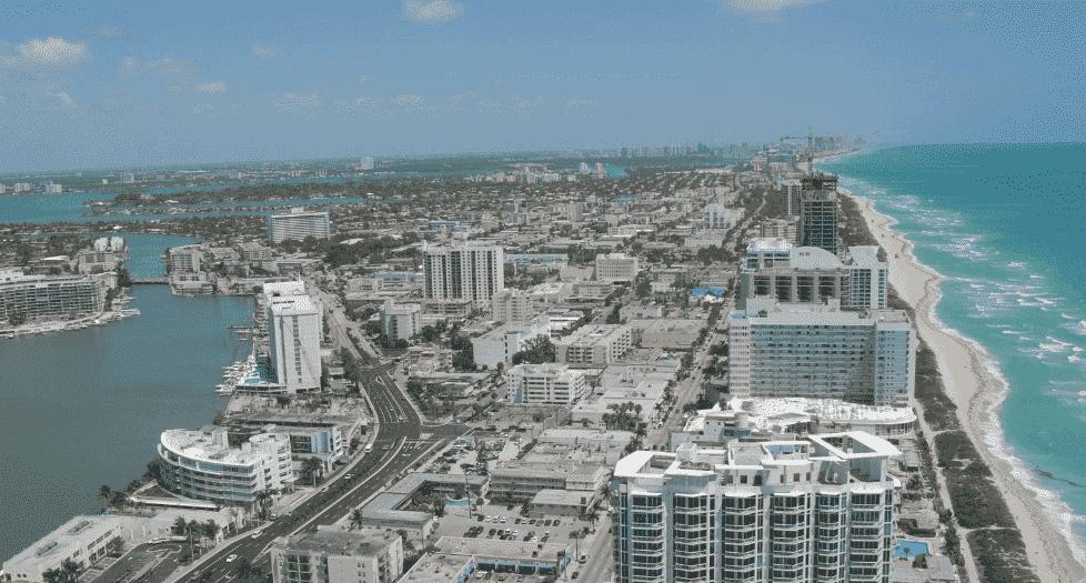 Praias de North Beach em Miami
