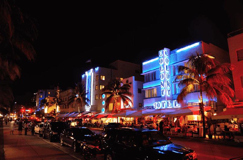 Ocean Drive em Miami: