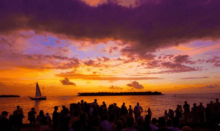 Mallory Square no Pôr do sol em Key West