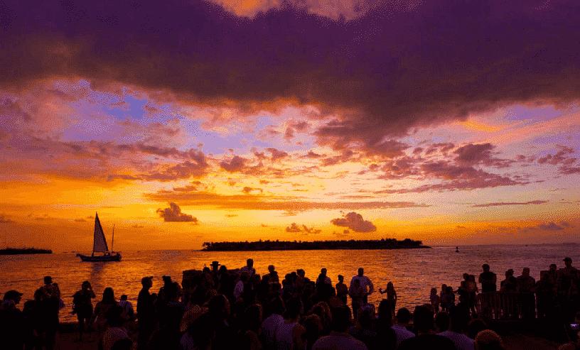Mallory Square no Por do Sol em Key West