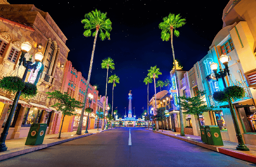 Hollywood Studios à noite