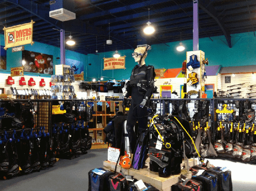 Divers Direct Outlet na International Drive em Orlando