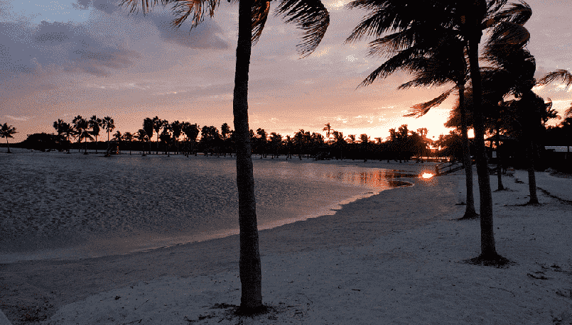 Matheson Hammock Park Beach em Miami