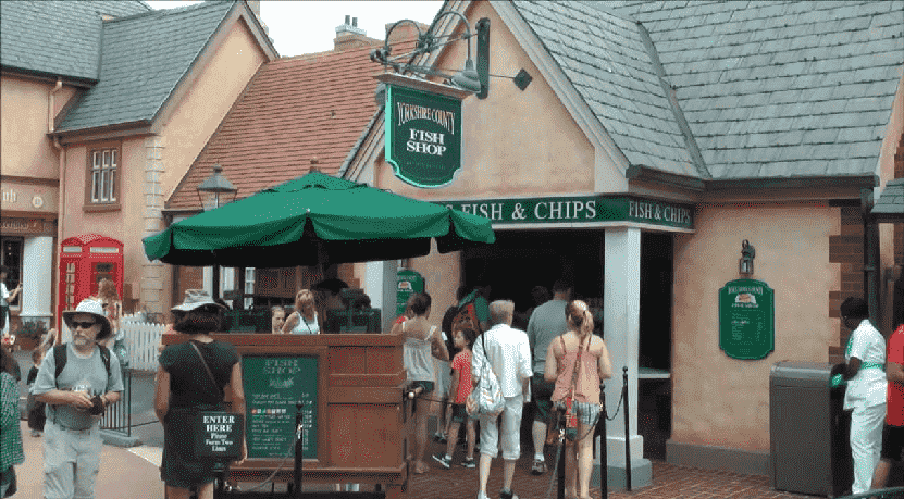 Restaurante Yorkshire County Fish Shop na Disney em Orlando