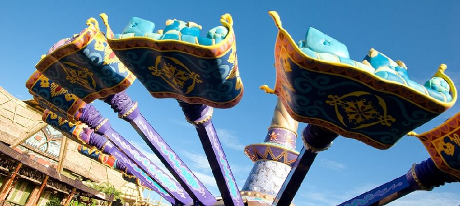 The Magic Carpets of Aladdin no Magic Kingdom em Orlando