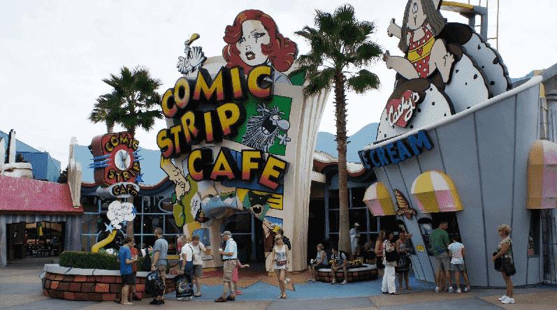 Restaurantes no Toon Lagoon no Islands of Adventure