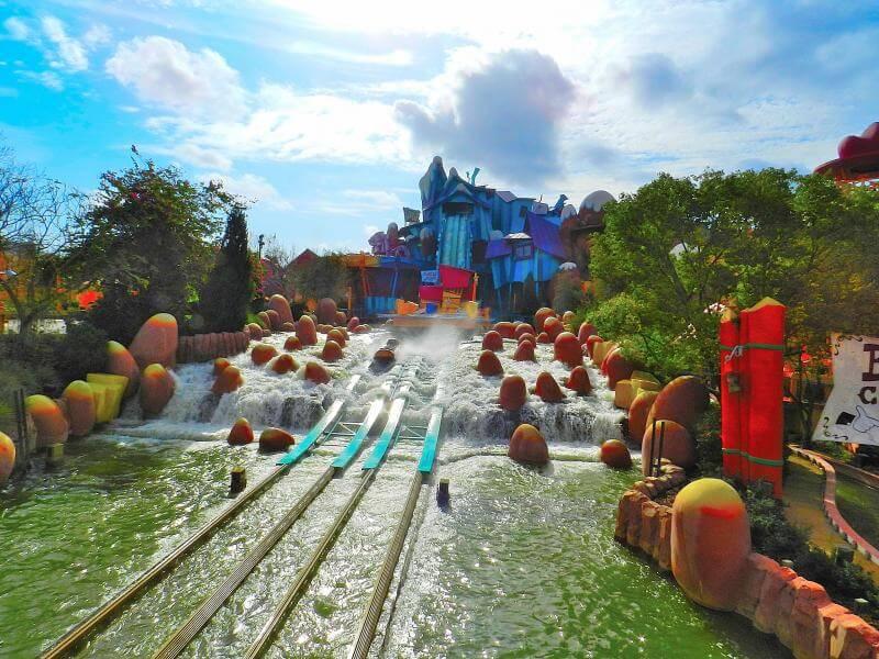 Dudley Do-Right's Ripsaw Falls no Islands of Adventure em Orlando
