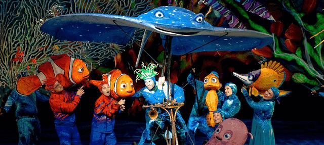 Finding Nemo - The Musical no Animal Kingdom em Orlando