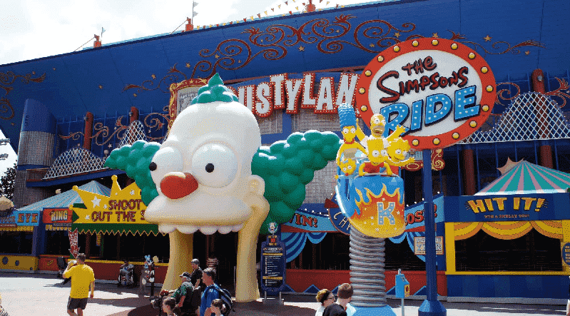 The Simpsons Ride na Universal Studios em Orlando