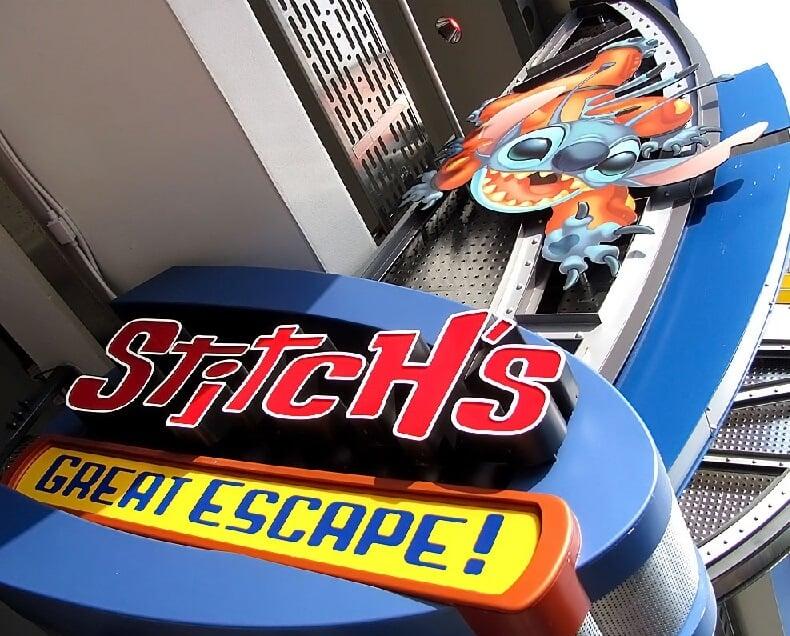 Stitch's Great Escape no Magic Kingdom em Orlando