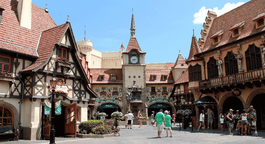 Pavilhão da Alemanha no Epcot em Orlando