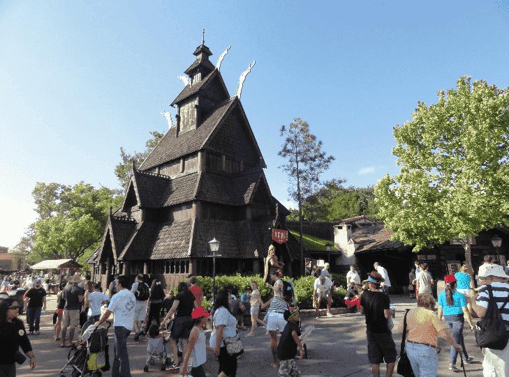 Pavilhão da Noruega no Epcot em Orlando