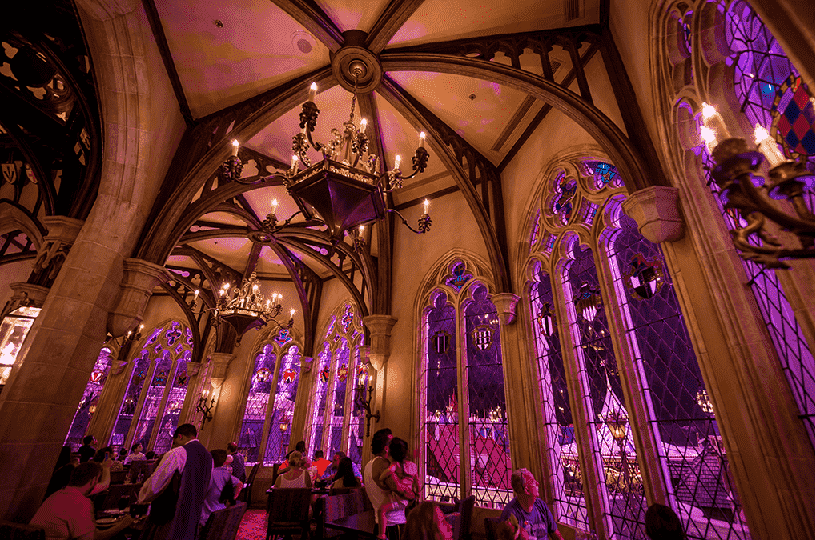 Restaurante Cinderella's Royal Table na Disney em Orlando