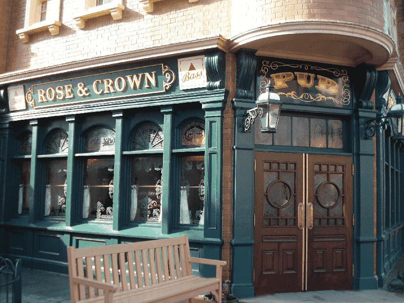 Restaurante e Pub Rose & Crown na Disney em Orlando