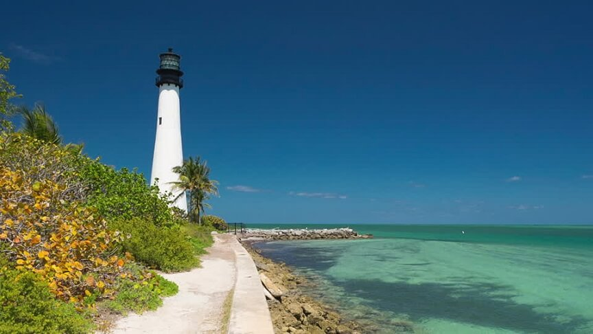 Cape Florida Lighthouse em Key Biscayne