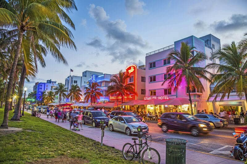 South Beach e Deco District em Miami Beach
