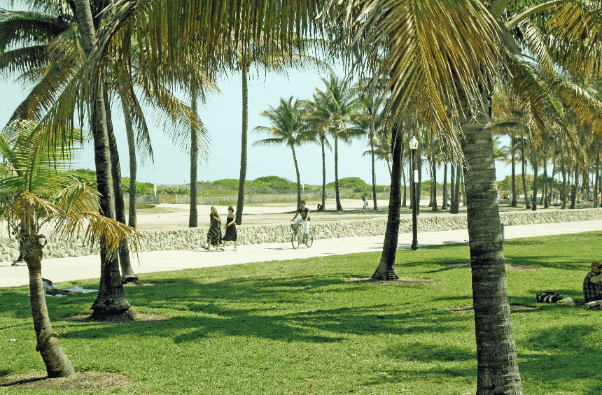 Lummus Park Beach em South Beach Miami