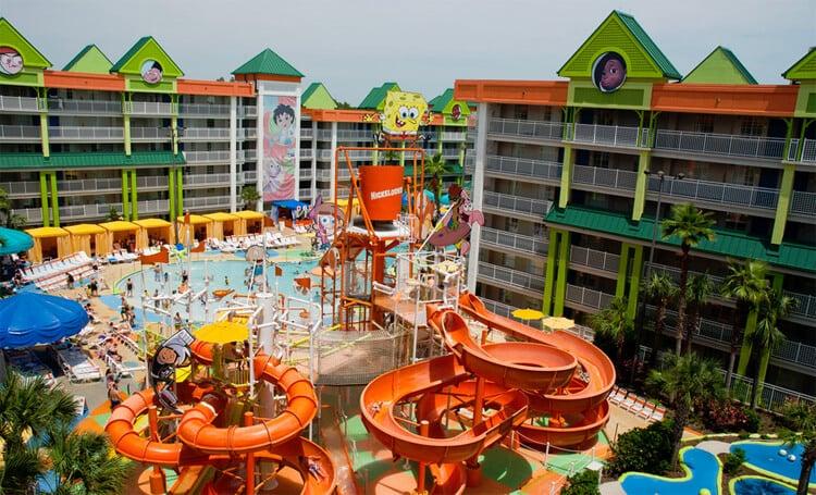 Motéis para famílias em Orlando - Hotel da Nickelodeon
