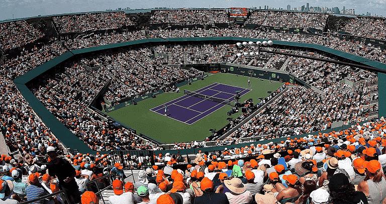 Arena para jogos de tênis em Miami
