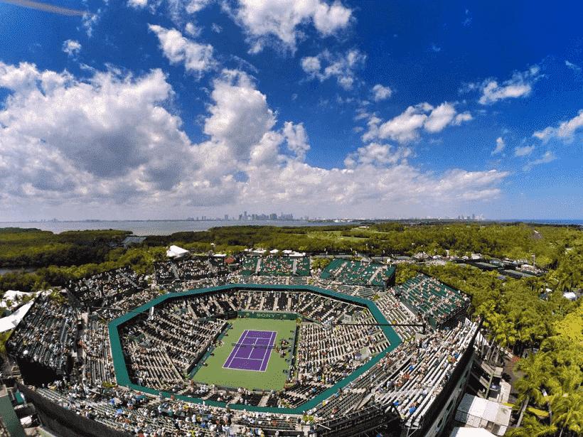 Arena de jogos de tênis em Miami