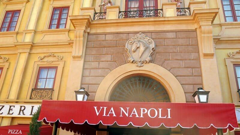 Restaurante Via Napoli na Disney em Orlando