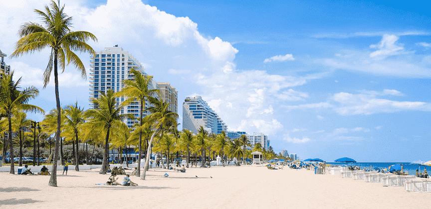 Praia em Fort Lauderdale na Flórida