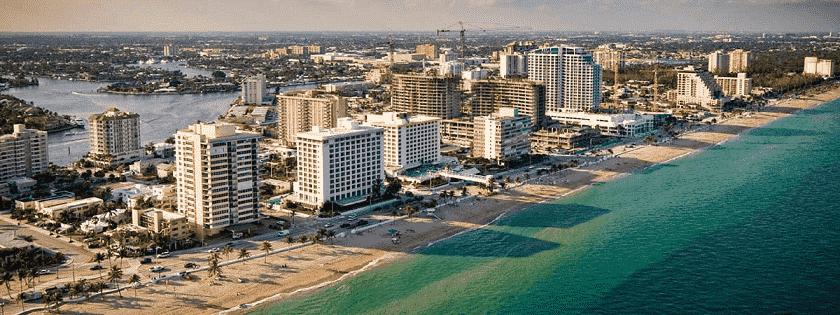 Vista aérea de Fort Lauderdale na Flórida
