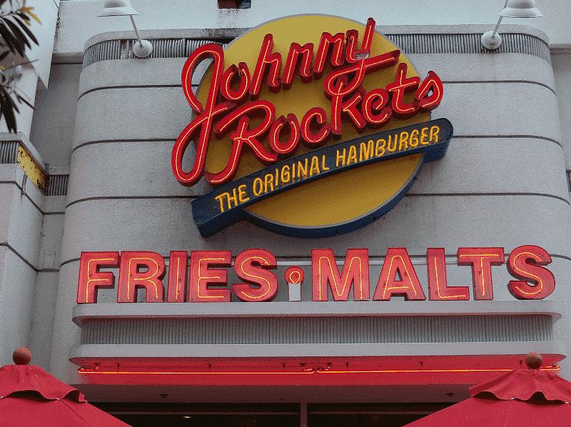 Lanchonete Johnny Rockets em Tampa