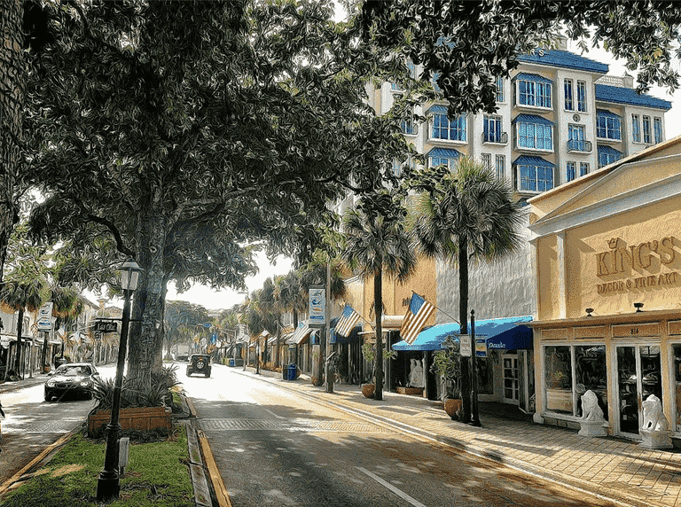 Las Olas Boulevard em Fort Lauderdale