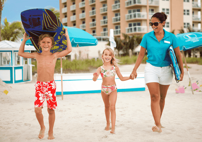 Crianças nas praias em Fort Lauderdale