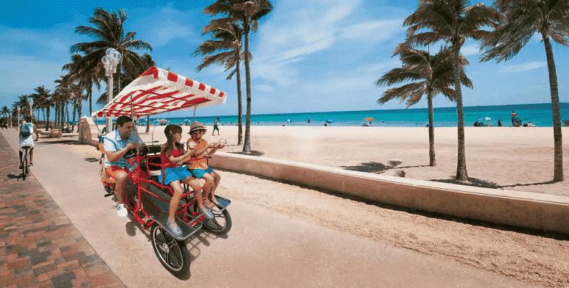 Passeio na orla com crianças em Fort Lauderdale