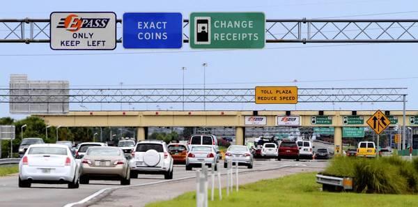 Pedágios com o carro alugado em Orlando